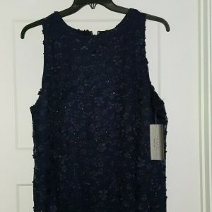 Tahari Arthur S. Levine Women's Blue Sequined Dress – Size 18