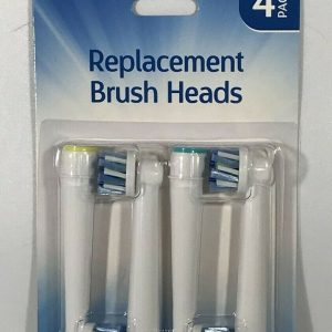 4 pack Replacement Brush Heads Soft Bristles Compatible with Oral-B Toothbrushes