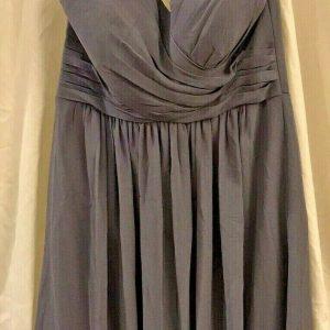 Bill Levkoff Pewter Sample Dress | 1150 | Bridesmaid, Prom, Formal, Size 8 | NWT