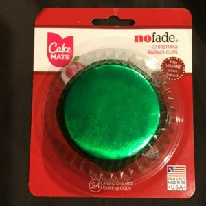 24 Cake Mate Green Foil Baking Cups Muffins, Cupcakes