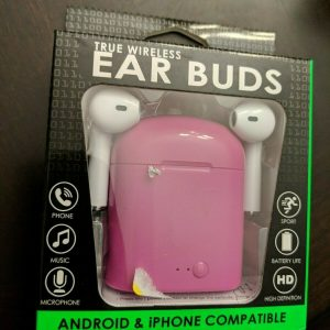 True Wireless Ear Buds – Android iPhone | Phone, Music | Pink, Purple, or Green