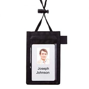 Office Depot Neck Pouch Name Badge, Vertical, 2 1/4in. x 3 1/2in, 55120