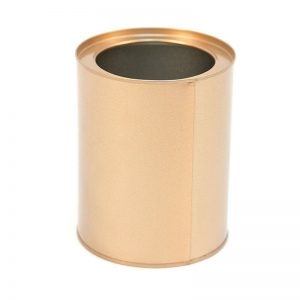 Garden Flower & Art, Indoor Pot Tin Zinc Storage Container, Rose Gold, Set of 2