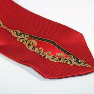 Giorgio Brutini Men's Tie 100% Silk Red