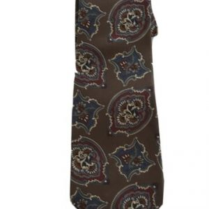 Oscar de La Renta 100% Silk Men's Paisley Tie, Red and Blue