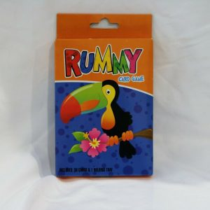 Rummy Card Game with 30 cards and 1 holding tray