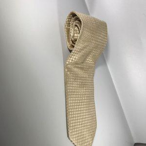 Men's 100% Silk Tie in Light Cream Gold