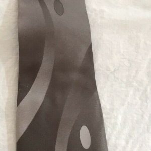 Pierre Cardin Men's All Silk Tie. Gray/Silver