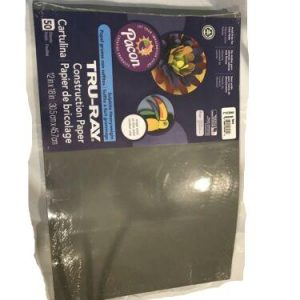 Tru-ray Construction Paper 12in x 18 in Slate Heavyweight 50 sheets