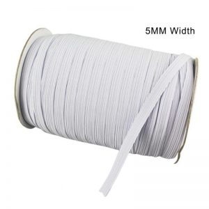 5 mm White 15 yards Elastic Band Cord for Sewing, Crafts, Face Coverings, School, Arts, Clothing