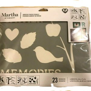 Martha Stewart Adhesive Paper Stencil Stencil~23 designs~FAMILY TREE
