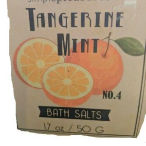Tangerine Mint Bath Salts Simple Pleasures No. 4 1.7 oz 50 g