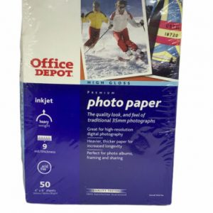Office Depot Photo Paper High Gloss for InkJet Printers Size 4″X6″ 50 Sheets
