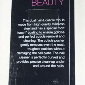 Precision Beauty Professional Dual Nail & Cuticle Tool Stainless Steel Purple