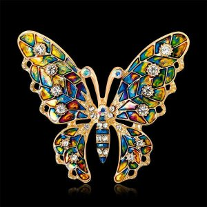 Butterfly Rhinestone Colorful Brooch Lapel Pin Fashion Jewelry