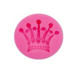 3D Princes Crown Silicone Mold Design Candy Chocolate Art Small Pink 5.4 cm