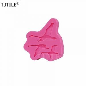 3D Three Geese Birds Silicone Mold Design Candy Chocolate Art Small Pink 6.6 cm