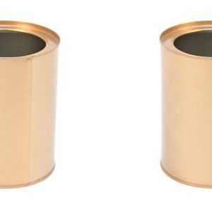 Indoor Flower Pot Set of 2 6 Inches Rose Gold Garden Tin Zinc Storage Container