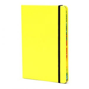 Journal Notebook Fluorescent Yellow l160 Pages Classic Ruled Hardcover Writing Biobay