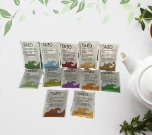 12 Variety Tazo Single Bags Tea Herbal, Black, Green, and White Special Pack