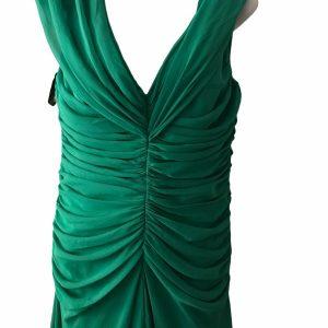 After Six Dress SZ 10 Lux Chiffon Floor Length Maxi Green, Bridesmaid, Formal