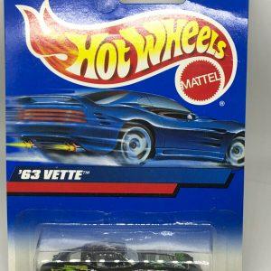 Hot Wheels '63 Vette X-Treme Black Red White 27140 Vintage 2000 #174