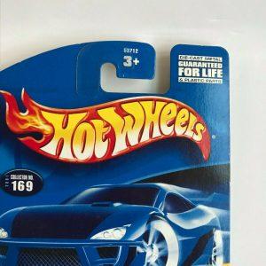 Hot Wheels Chopper Motorcycle Blue Silver Blast Lane #169 2001