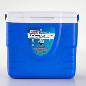 Coleman Cooler Blue Excursion Portable 9 Quart 9 5/8 x 7 3/8 x 9 in Holds 9 Cans